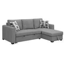 Sofa Chaise w/ Storage Ottoman and Pop-Up Sleeper