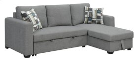 Lsf Chaise W/1 Accent Pillow-platinum #17ak06-7