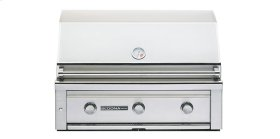 "36"" Built In Grill with 3 Stainless Steel Burners (L600) - Natural gas"