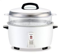 17 Cup Commercial Automatic Rice Cooker with Steam Basket - SR-GA321SH - White
