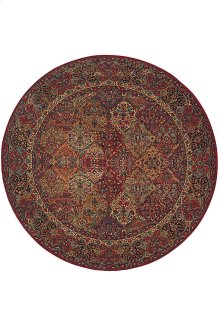 Multicolor Panel Kirman - Round 8ft 8in x 8ft 8in