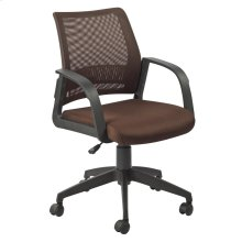 Deep Brown Mesh Back Office Chair