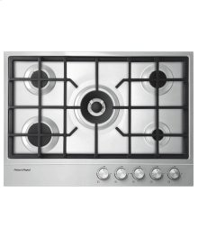 "Gas on Steel Cooktop, 30"" 5 Burner (LPG)"