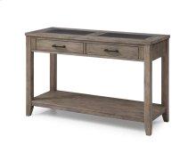 Sofa Table-honey Amber Wood W/tile Inserts Rta