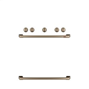 CafeFreestanding Gas Knobs and Handles - Brushed Bronze