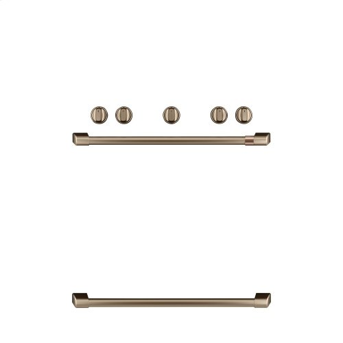 Café Freestanding Gas Knobs and Handles - Brushed Bronze