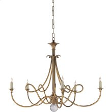 Visual Comfort SC5005HAB Eric Cohler Double Twist 5 Light 36 inch Hand-Rubbed Antique Brass Chandelier Ceiling Light