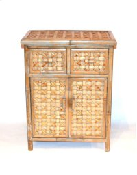 Bamboo Cabinet 2 Door 2 Drawer-21X12X27.5 Product Image