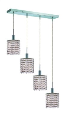 1284 Mini Collection Hanging Fixture Oblong Canopy Square Pendant Chrome Finish