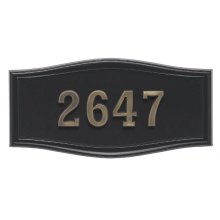 Large Roundtangle HouseMark ® Address Plaques