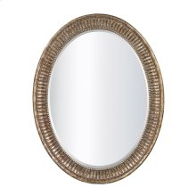 OVAL MIRROR IN BRONZE