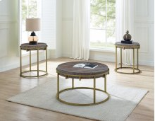"""Samuel Round End Table 22"""" x 22"""" x 24"""""""