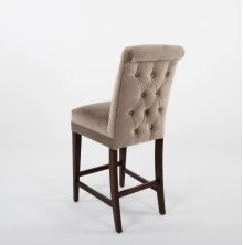 """Button tufted roll back with plain inside back. 24"""" barstools have a seat height of 26"""" when measured"""