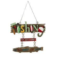 """""""Fishing Not Just a Hobby It's a Way of Life"""" Ornament."""