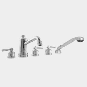 2800 Series Roman Tub Set with Diverter, Handshower and Regent Handle (available as trim only P/N: 1.285393T)