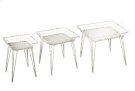 3 pc. set. Distressed White Square Basket Side Table. (3 pc. set) Product Image