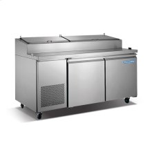2 Door Stainless Steel Pizza Prep Table