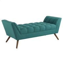 Response Medium Upholstered Fabric Bench in Teal