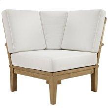 Marina Outdoor Patio Premium Grade A Teak Wood Corner Sofa in Natural White