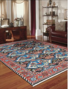 Nourmak Sk48 Multicolor Rectangle Rug 9'10'' X 13'10''