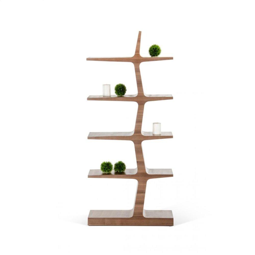 Modrest Timber Modern Walnut Bookcase