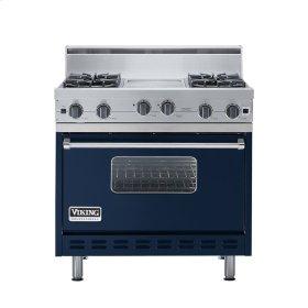 """Viking Blue 36"""" Open Burner Range - VGIC (36"""" wide, four burners 12"""" wide griddle/simmer plate)"""