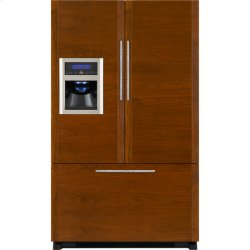 "Cabinet Depth French Door Refrigerator with External Dispenser, 69""(h)"