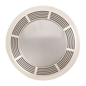 Fan/Light, Round White Grille With Glass Lens, 100 CFM Product Image