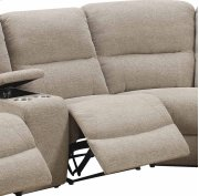 Armless Recliner-beige#k1719-3 Product Image