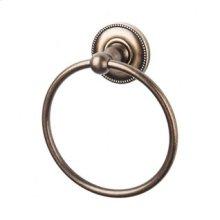 Edwardian Bath Ring Beaded Backplate - German Bronze