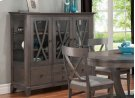 Florence China Cabinet w/3 Glass Doors & 4/Dwrs & 2/Glass Shelves & Glass Gables & LED Lighting Product Image