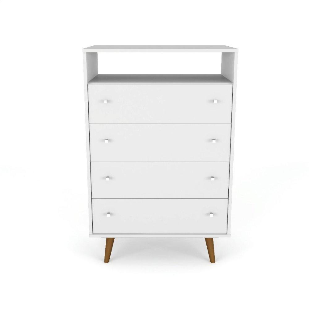Liberty 4-Drawer Dresser Chest in White