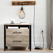 Teardrop shade with cord for wall outlet - Black
