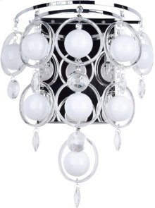 Crystal Wall Lamp, C/crystals, Type Jc/g4 20wx6