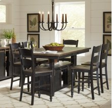 Madison County High/low Table With 4 Stools - Vintage Black