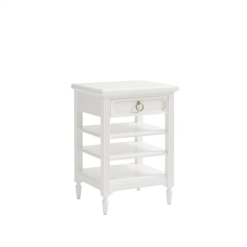 Clementine Court Frosting Bedside Storage Table
