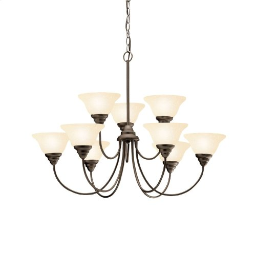 Telford 9 Light 2 Tier Chandelier Olde Bronze®
