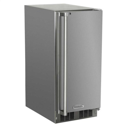 "15"" Outdoor Refrigerator - Marvel Refrigeration - Solid Stainless Steel Door with Lock - Right Hinge"