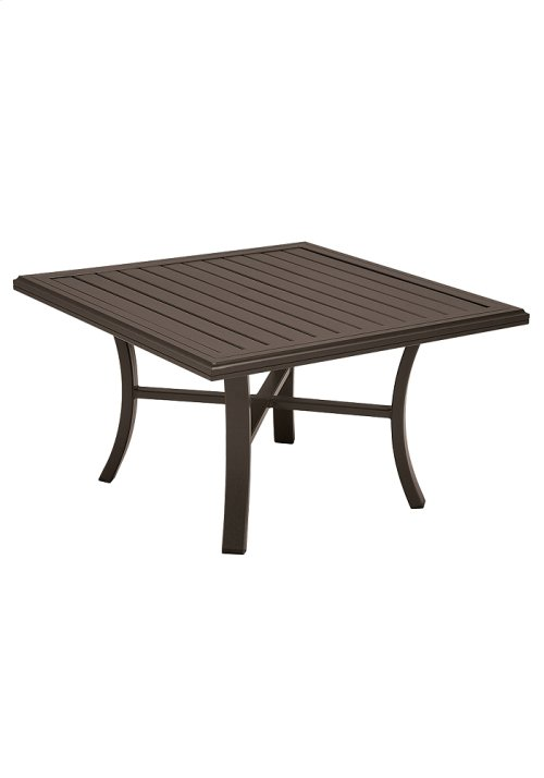 """Banchetto 42"""" Square Chat Table"""