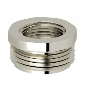 "Polished Nickel Perrin & Rowe 3/4""M X 1/2""F Adaptor"