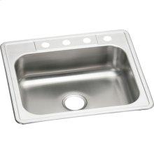 "Elkay Stainless Steel 25"" x 22"" x 7-1/16"", Single Bowl Drop-in Sink"