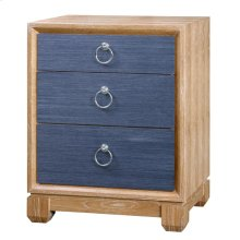 Calvin 3-Drawer Side Table, Navy Blue