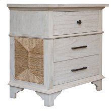 4 Drawer Night Stand, Available in Coral White Finish Only.