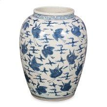 Blue & White Ceramic Vase