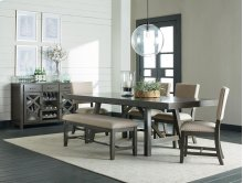 Trestle Table, W/2 13 In Leafs