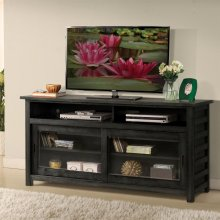 Perspectives - 64-inch TV Console - Ebonized Acacia Finish