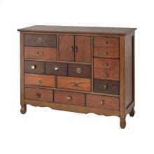 Harvey 10-drawer 2-door Chest In 6 Wood Veneers