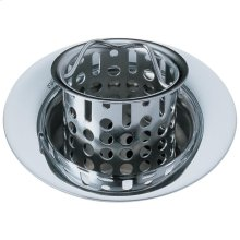 Chrome Bar / Prep Sink Flange and Strainer