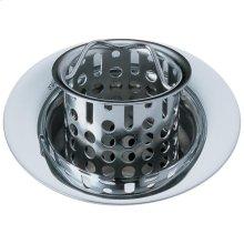 Chrome Bar / Prep Sink Flange and Strainer