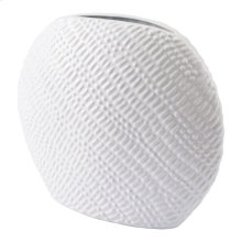 Urchin Round Vase Sm White